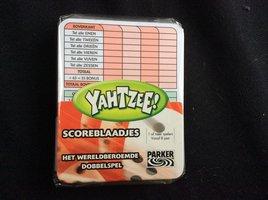 NIEUW: Yahtzee Scoreblaadjes